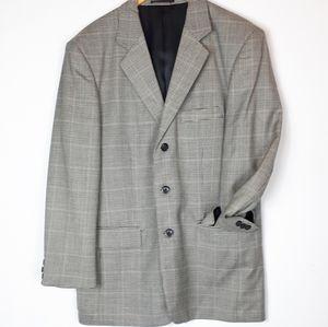 Denver Hayes 100% wool plaid blazer